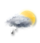 Very cloudy sky with short sunny periods.