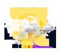Nuages et soleil, tendance orageuse
