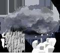 Alternance de pluie et de neige