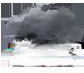 Couvert et brumeux