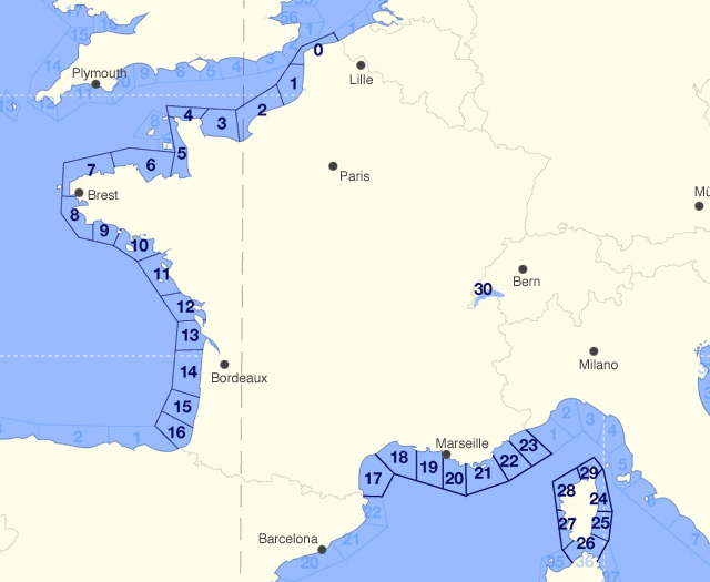 Marine Weather Map.Marine Weather France 14 Day Coastal Area Shipping Forecast