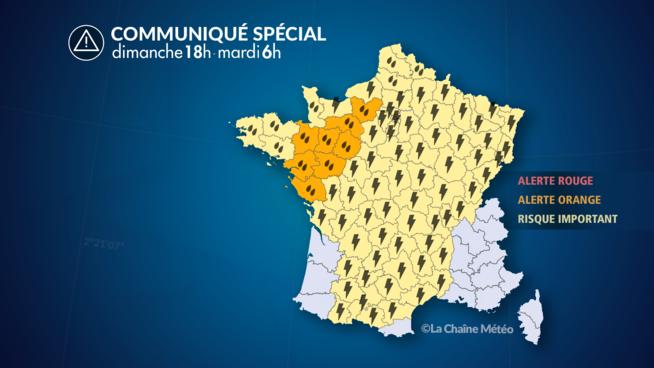 Orages et inondations: 27 départements toujours en vigilance orange