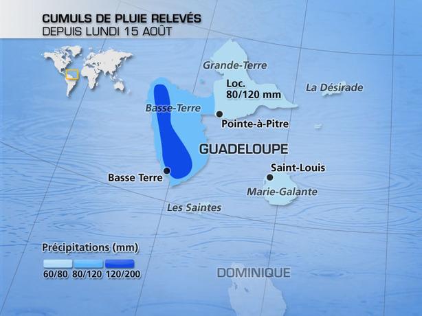 Actualité Météo : Pluies torrentielles en Guadeloupe   La Chaîne Météo
