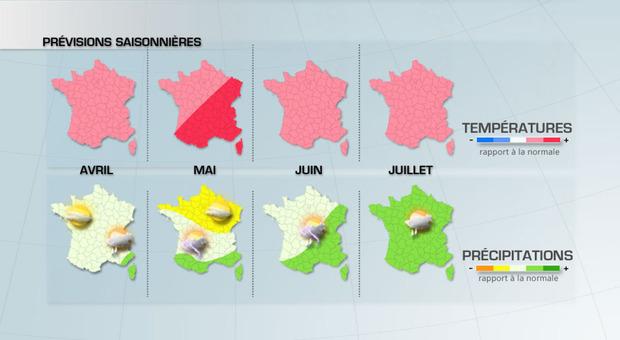 Actualit�s France - France - Pr�vision saisonni�re