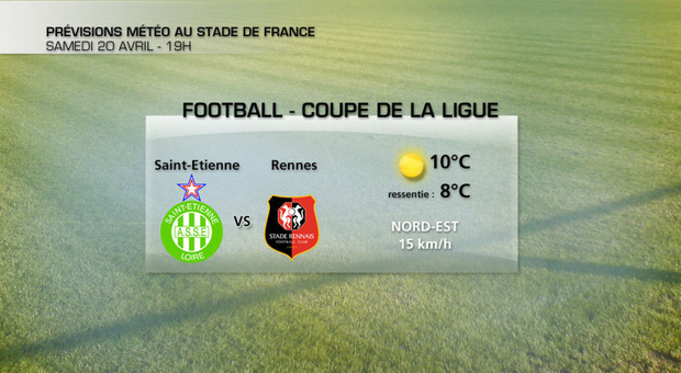Actualit m t o football fra cheur au stade de france pour la finale la cha ne m t o - Meteo rennes samedi ...