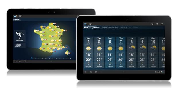 appli meteo android tablette la meilleure appli m t o gratuite. Black Bedroom Furniture Sets. Home Design Ideas