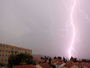 Orage  sur Carcassonne