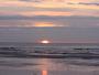 Grandes mar�es ao�t 2015: coucher de soleil � mar�e basse.
