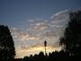 Beau ciel du soir sur l'Alsace.