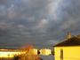 Soleil couchant et ciel gris en m�me temp