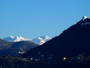 Les Alpes enneig� depuis Nice