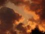 D�tail des nuages ce soir au coucher du soleil