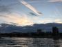 Fin de journ�e entre nuages et ciel bleu