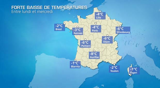Actualit m t o m t o en france demain pluie et baisse - Meteo orleans demain ...