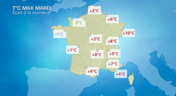 Météo en France demain : dégradation dans la moitié nord