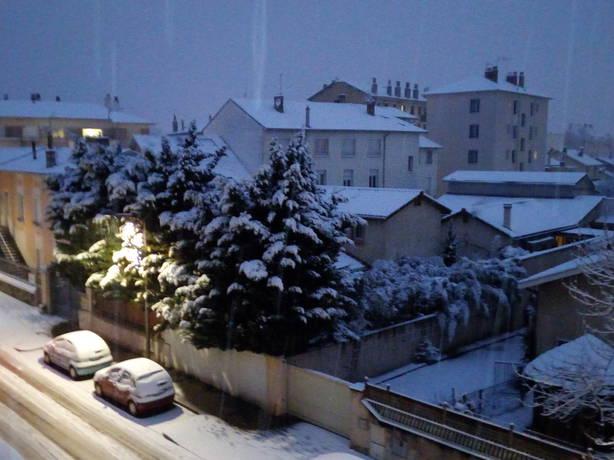 Neige à Oullins