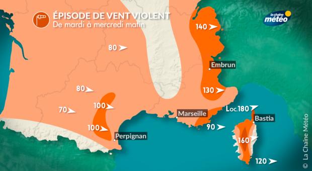 La Corse en vigilance orange aux vents violents