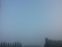 Ciel bleu et brouillard
