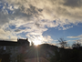 Soleil en fin d'apr�s midi avec une temp�rature ext�rieure de 10�
