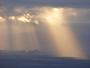 Perc� de soleil sur le pic de montverdun