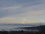 Vall�e  du rh�ne  sous les nuages et mont blanc en arri�re  plan