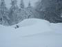 Photo voiture recouverte de neige