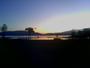 Crepuscule plage du bourget du lac a cote d'aix les bains