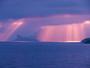 Rideaux de rayons de soleil sur le Bec de l'Aigle.