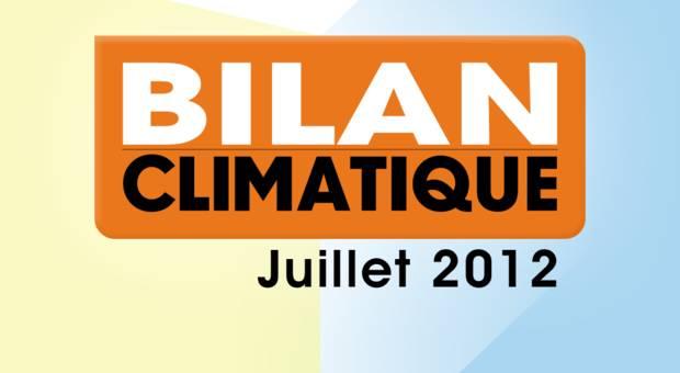 Vidéo Bilan climatique de juillet 2012