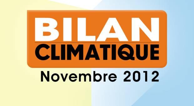 Vidéo Bilan climatique de Novembre 2012