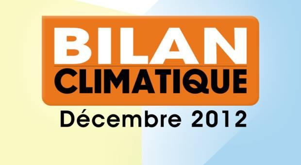Vidéo Bilan climatique de décembre 2012