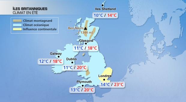 Actualité Météo : Londres et le climat britannique en été   La