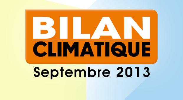 Vidéo Bilan climatique de Septembre 2013