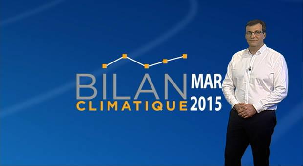 Vidéo Bilan climatique de mars 2015