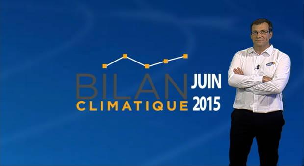 Vidéo Bilan climatique de juin 2015