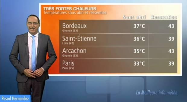 Chaleur lourde ce dimanche : 40 sur la France !