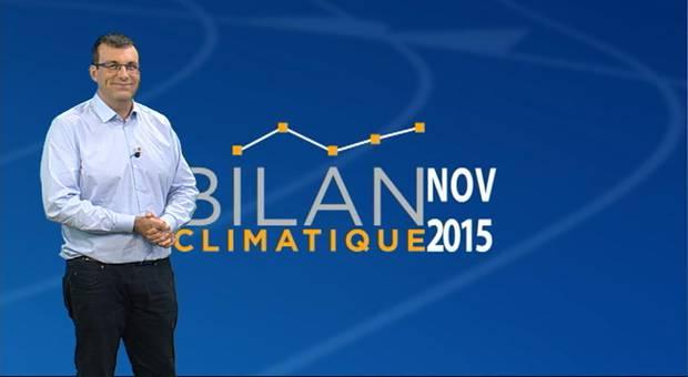 Vidéo Bilan climatique de novembre 2015