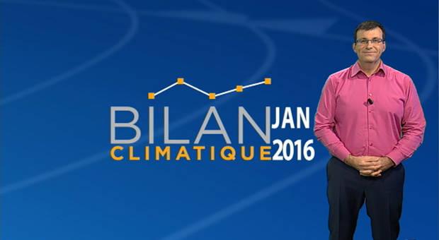 Vidéo Bilan climatique de janvier 2016