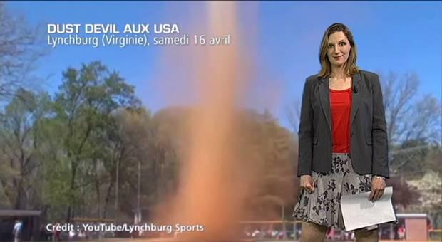 Vidéo Dust devil en plein match