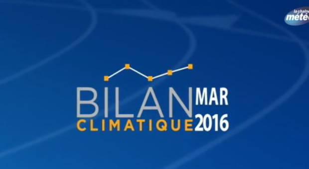 Vidéo Bilan climatique de mars 2016