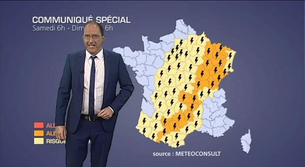 Alerte m�t�o : orages et chute de gr�le
