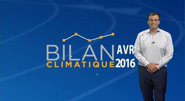 Vidéo Bilan climatique d'avril 2016