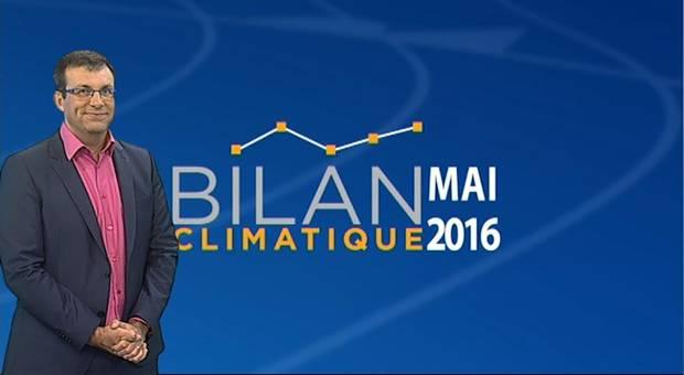 Vidéo Bilan climatique de mai 2016