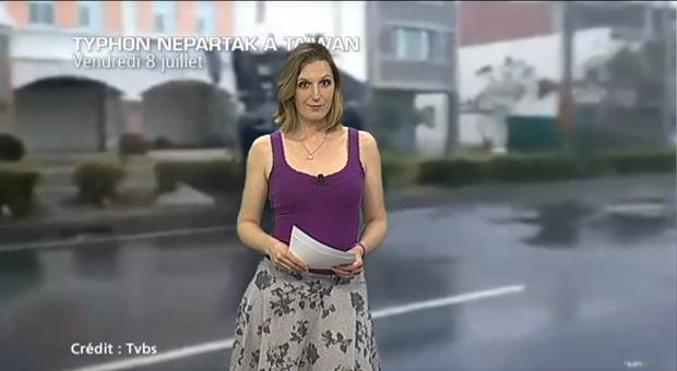 Vidéo Taïwan touché par le typhon Nepartak