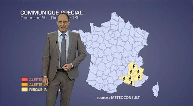 Alerte m�t�o : forts orages dans le sud-est