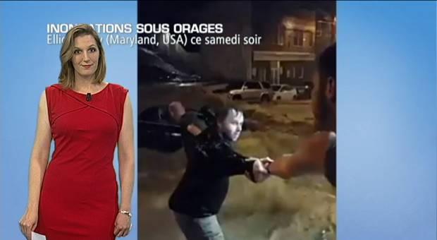 Vidéo Incroyables inondations au Maryland