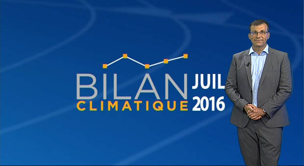Vidéo Bilan climatique de Juillet 2016
