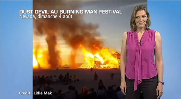 Vidéo Burning Man Festival : des tourbillons à profusion