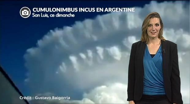 Vidéo Argentine : un nuage en forme d'explosion