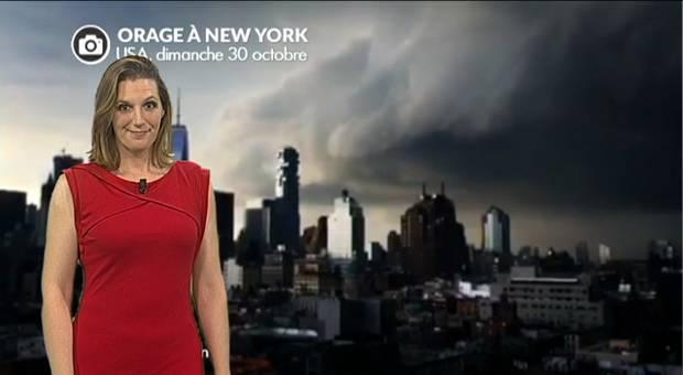 Vidéo Impressionnant orage sur New York